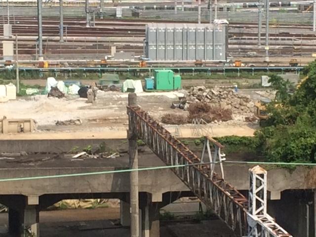 2014年頃の品川駅車両基地近辺
