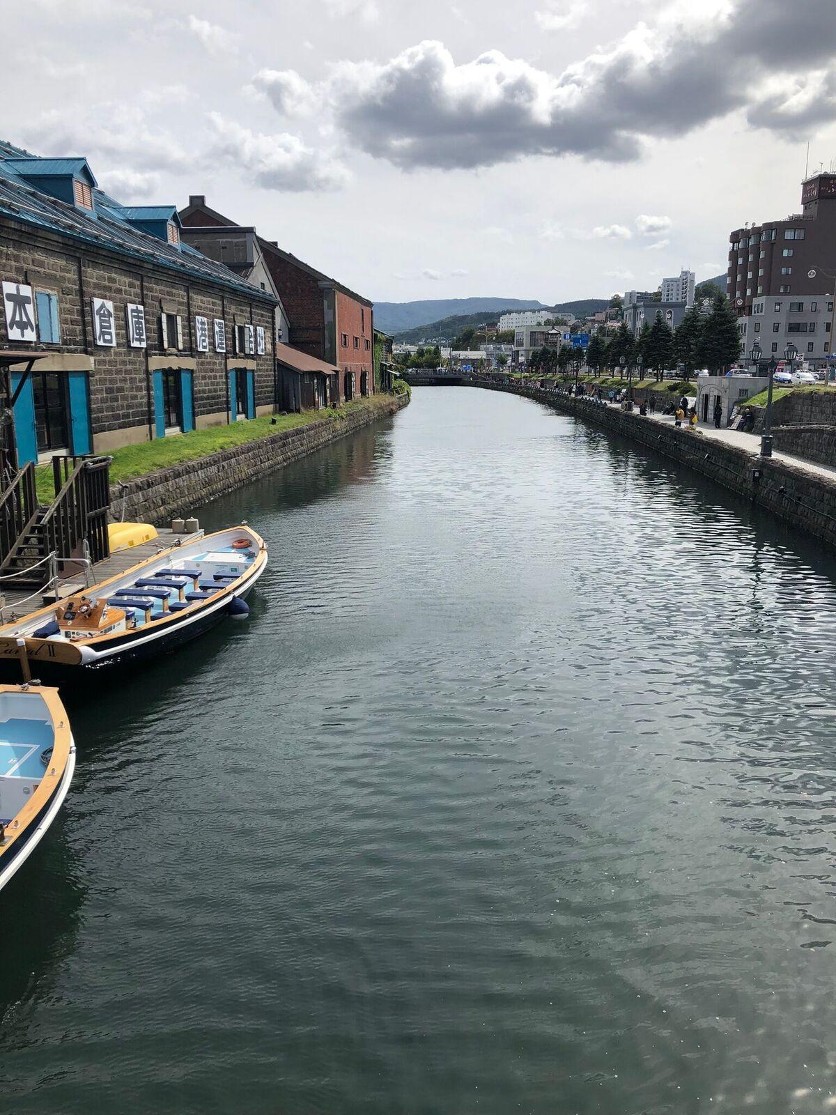 北海道小樽の運河