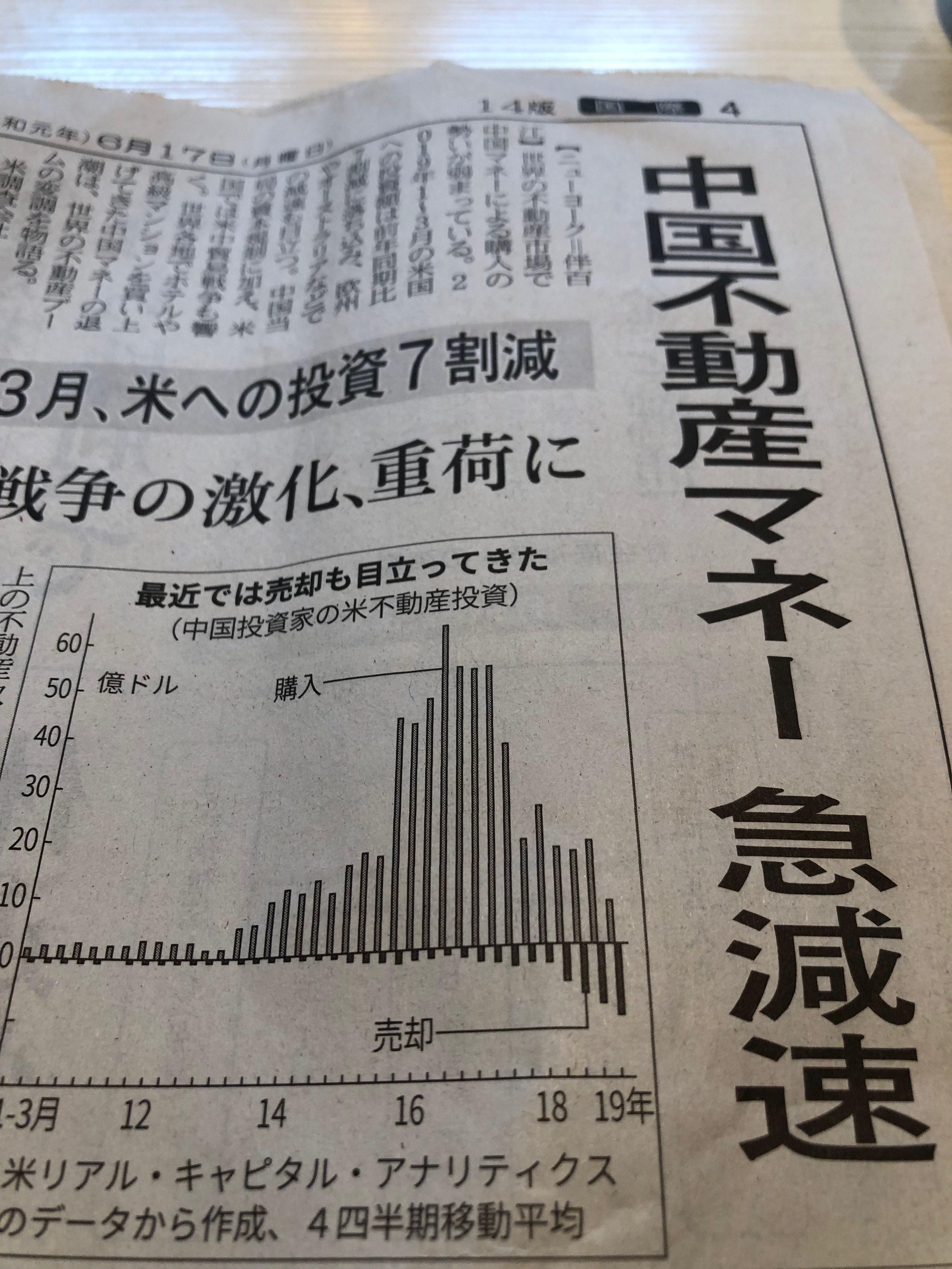 中国不動産マネー急減速